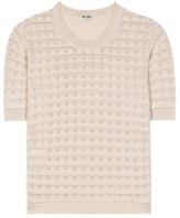 Miu Miu Cashmere-blend Knit Blouse