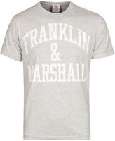 Franklin & Marshall Bold Grey Marl Crew Neck T-shirt