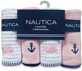 Nautica 4-Pack Washcloths in Pink