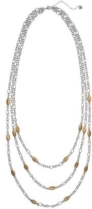The Sak Two-Tone Multi Row Necklace