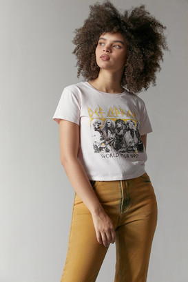 Urban Outfitters Def Leppard World Tour Baby Tee