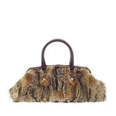 Gucci Bamboo Frame Satchel Fur