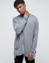 Asos Extreme Oversized Long Sleeve T-Shirt With Pocket