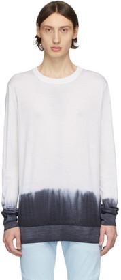 Balmain Black and White Tie-Dye Sweater
