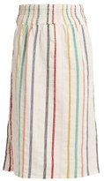 Ace&Jig Ramona embroidered-stripe cotton skirt