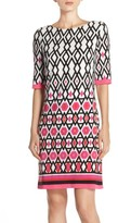 Eliza J Petite Women's Print Jersey Sheath Dress
