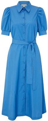 Monsoon Harley Plain Shirt Dress - Blue