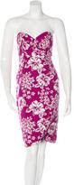 Michael Kors Silk-Blend Printed Dress