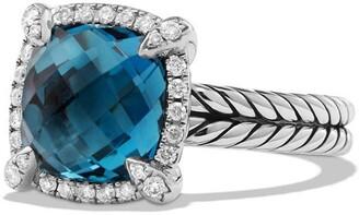 David Yurman Chatelaine Small Pave Bezel Ring with Diamonds