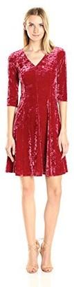 Only Hearts Women's Velvet V-Neck Flare Dress