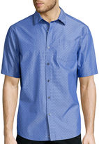 Claiborne Short-Sleeve Chambray Woven Shirt