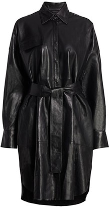 Remain Birger Christensen Bologna Leather Shirtdress
