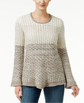Style&Co. Style & Co Colorblocked Sweater, Only at Macy's