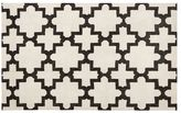 Pottery Barn Melia Hand-Loomed Rug - Ivory/Black
