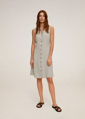MANGO Button shirt dress light/pastel grey - 2 - Women