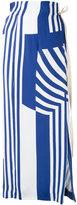 Erika Cavallini - striped maxi skirt - women - Viscose - 42