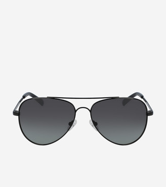 Cole Haan Metal Aviator Sunglasses