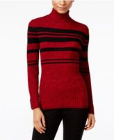 Style&Co. Style & Co Petite Striped Turtleneck Sweater, Only at Macy's