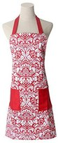 100% Cotton Machine Washable Kitchen Apron Cooking Apron Baking Apron with 2 Pockets (Red)