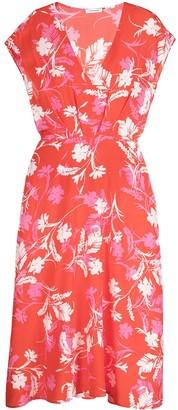 P.A.R.O.S.H. Floral Print Silk Midi Dress