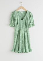 Thumbnail for your product : And other stories V-Neck Puff Sleeve Mini Dress