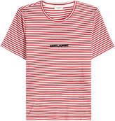 Saint Laurent Striped T-Shirt with Logo