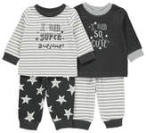 George 2 Pack Slogan Pyjamas