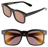 Wildfox Couture Women's Gaudy Zero 51Mm Flat Square Sunglasses - Baby Blue-Cream