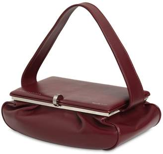 Victoria Beckham LARGE POWDER BOX LEATHER TOP HANDLE BAG