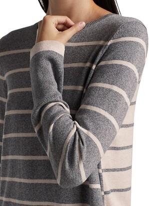 NIC+ZOE, Petites Striped Crewneck Sweater