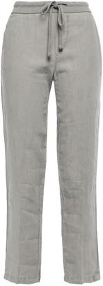 James Perse Linen Cropped Slim-leg Pants