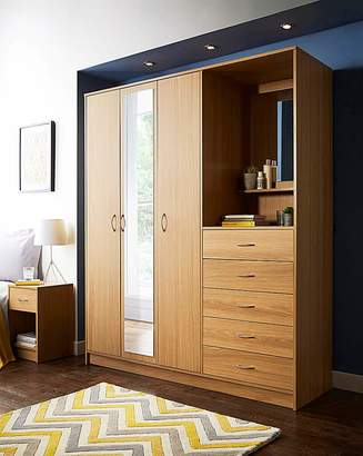 Combi Marisota Darwen 3 Door 5 Drawer Wardrobe