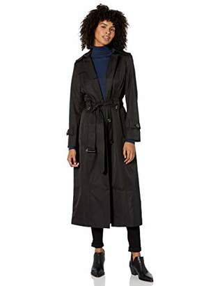 London Fog Women's Single-Breasted Trench Coat with Belt