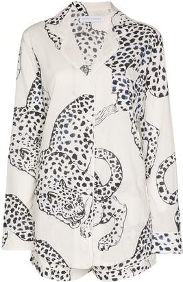 Desmond & Dempsey The Jag print cotton pyjama set