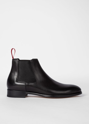 Paul Smith Men's Black 'Crown' Chelsea Boots