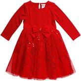 Youngland Little Girls' Knit to Mesh Fashion Dress