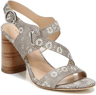 Via Spiga Hyria Heeled Embossed Leather Sandals