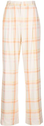 M Missoni High Waist Check Trousers