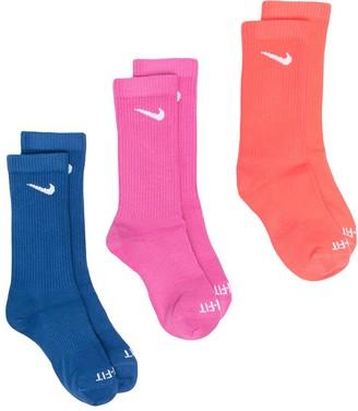 Nike Swoosh-Logo Tri-Pack Socks