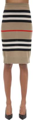 Burberry Intarsia Merino Wool Knit Pencil Skirt