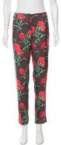 Dolce & Gabbana Mid-Rise Silk Pants