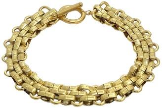 Savvy Cie 18K Gold Plated Panther Link Toggle Bracelet