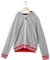 Petit Bateau Boys' Striped Hooded Sweatshirt