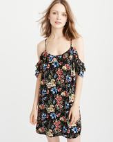 Abercrombie & Fitch Cold-Shoulder Ruffle Dress