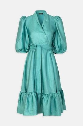Stine Goya Chinie Dress In Aqua - L