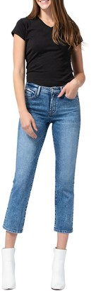 Flying Monkey Mid-Rise Crop Straight Jeans