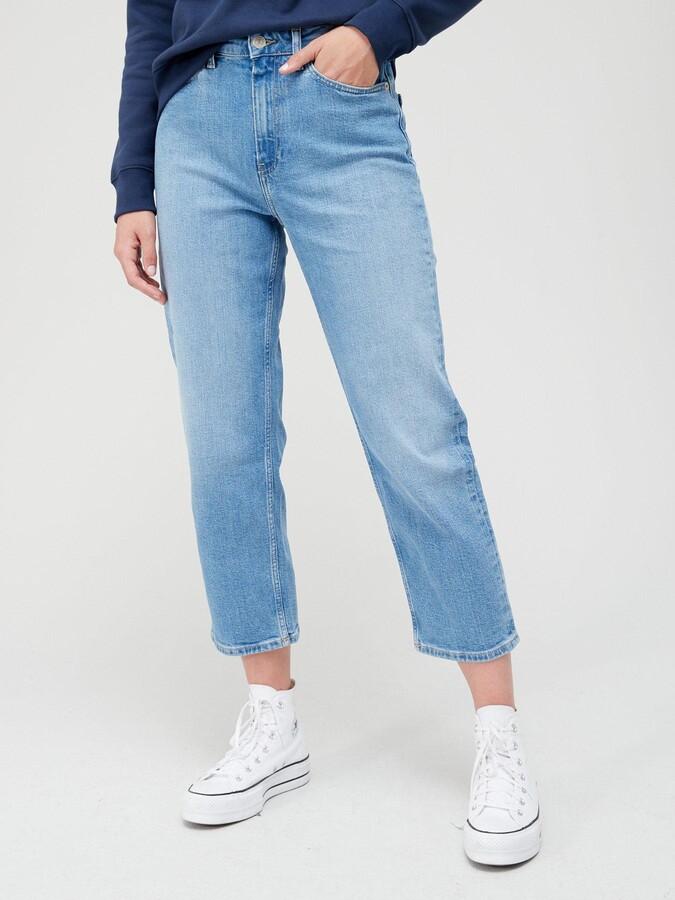 Tommy Hilfiger GMD Cotton Tencel Slim Pant Jean Droit Femme