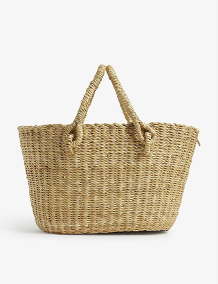 Muun Micro Claudia straw bag with pouch