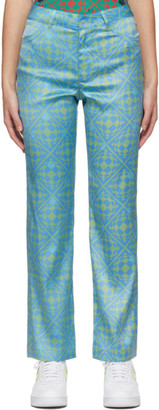 MAISIE WILEN Blue and Green Nebula Trousers