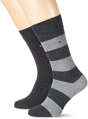 Tommy Hilfiger Men's TH RUGBY SOCK 2P Calf Socks,(Manufacturer size: 39-42)